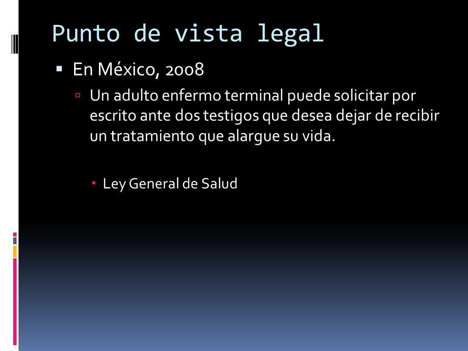 Punto de vista legal En México, 2008