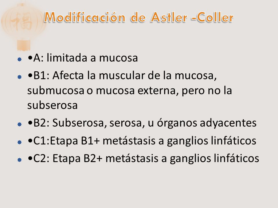 Modificación de Astler -Coller