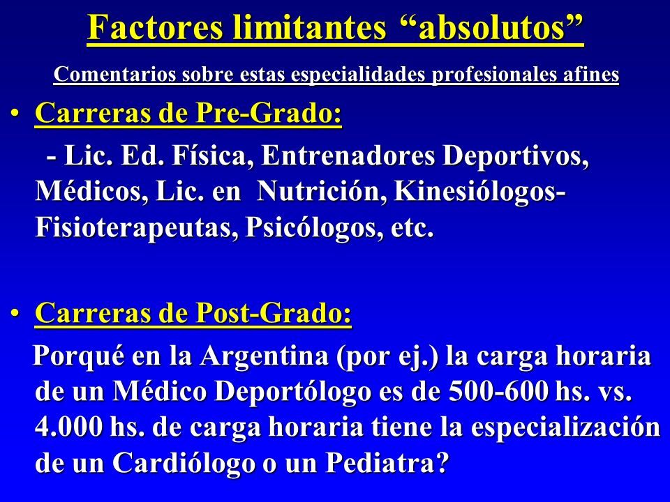 Factores limitantes absolutos