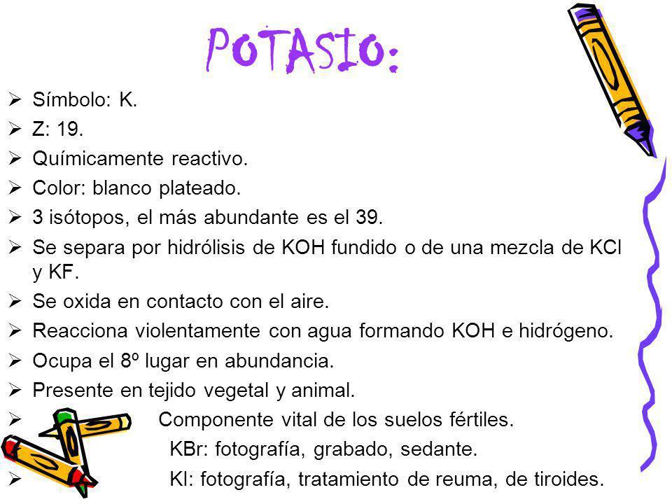 Best simbolo del potasio en la tabla periodica image collection 5 potasio urtaz Image collections