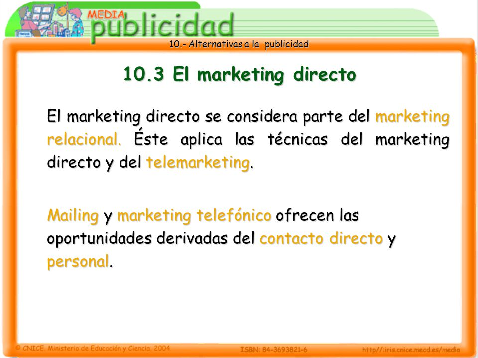 10.3 El marketing directo