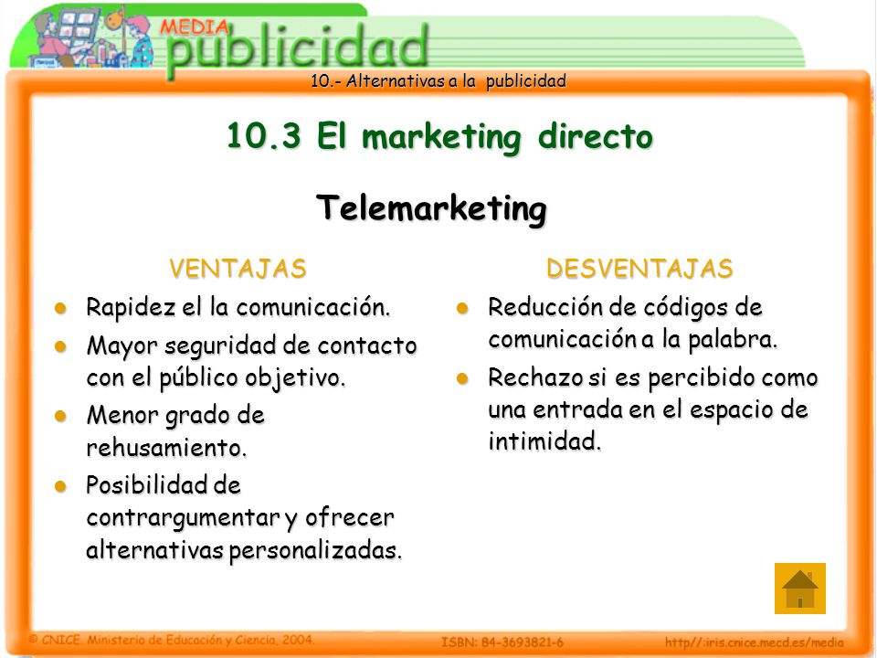 10.3 El marketing directo Telemarketing