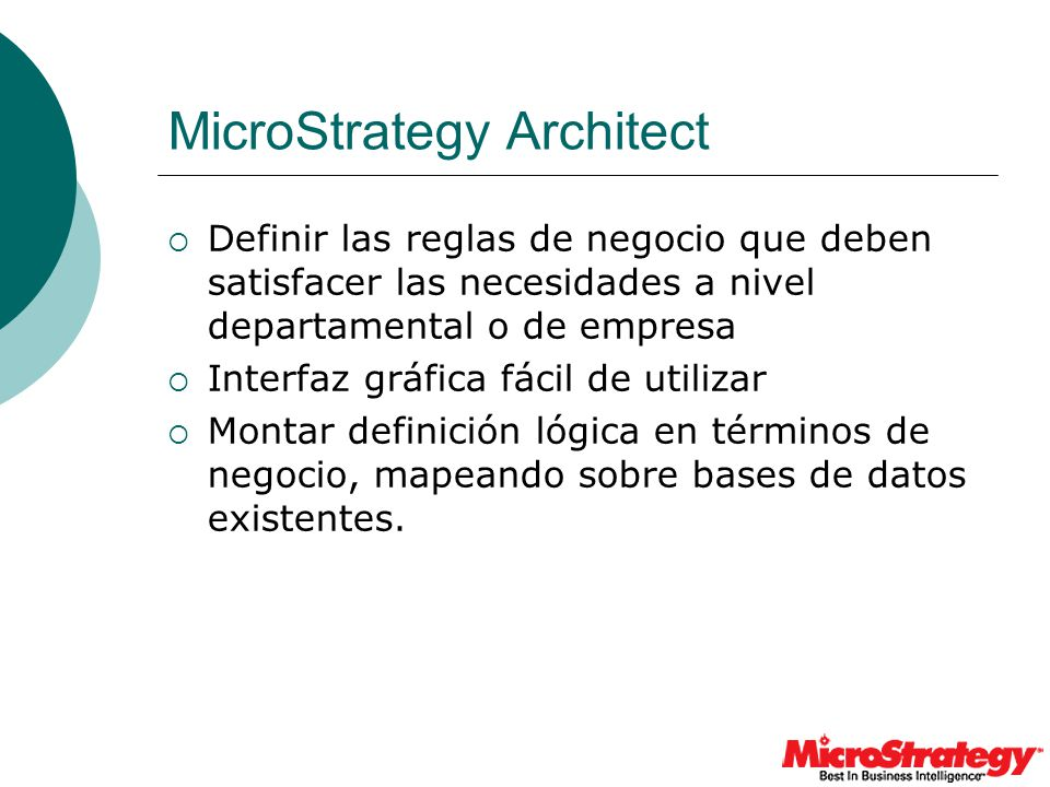 MicroStrategy Architect