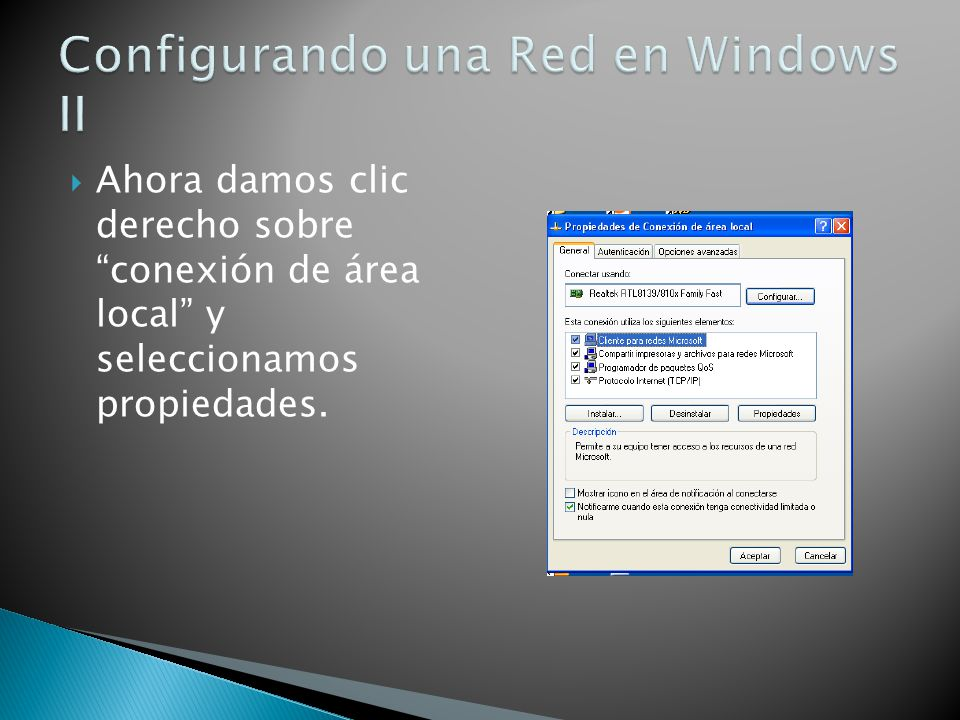 Configurando una Red en Windows II