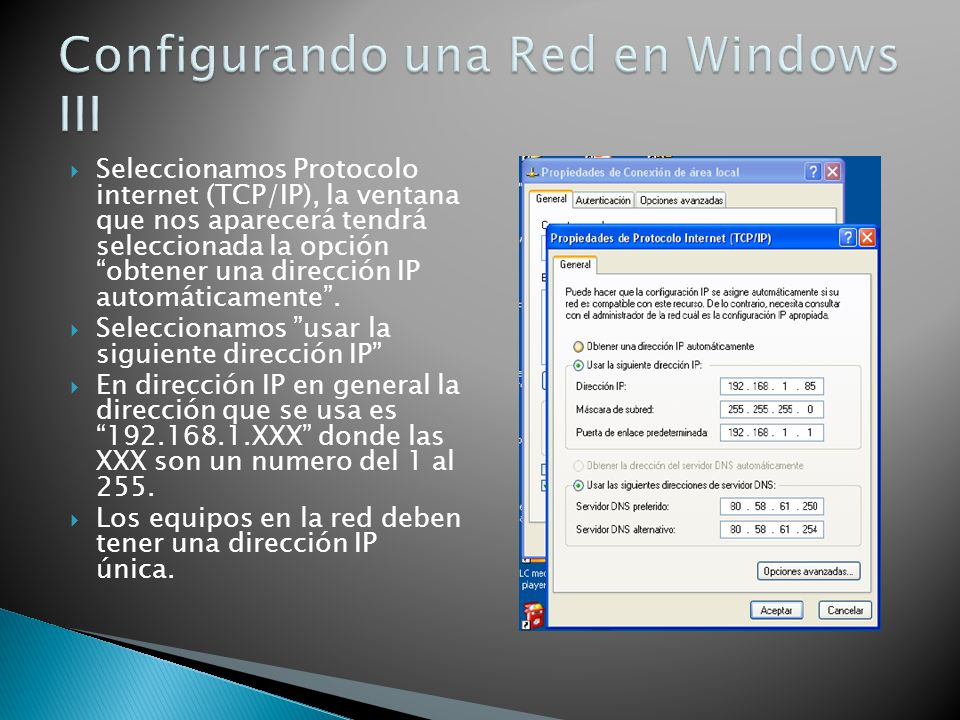 Configurando una Red en Windows III