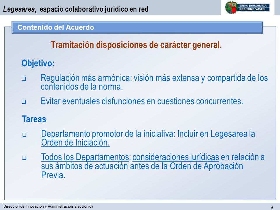Tramitación disposiciones de carácter general.