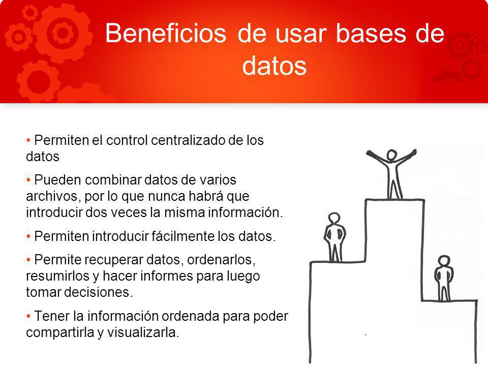 Beneficios de usar bases de datos