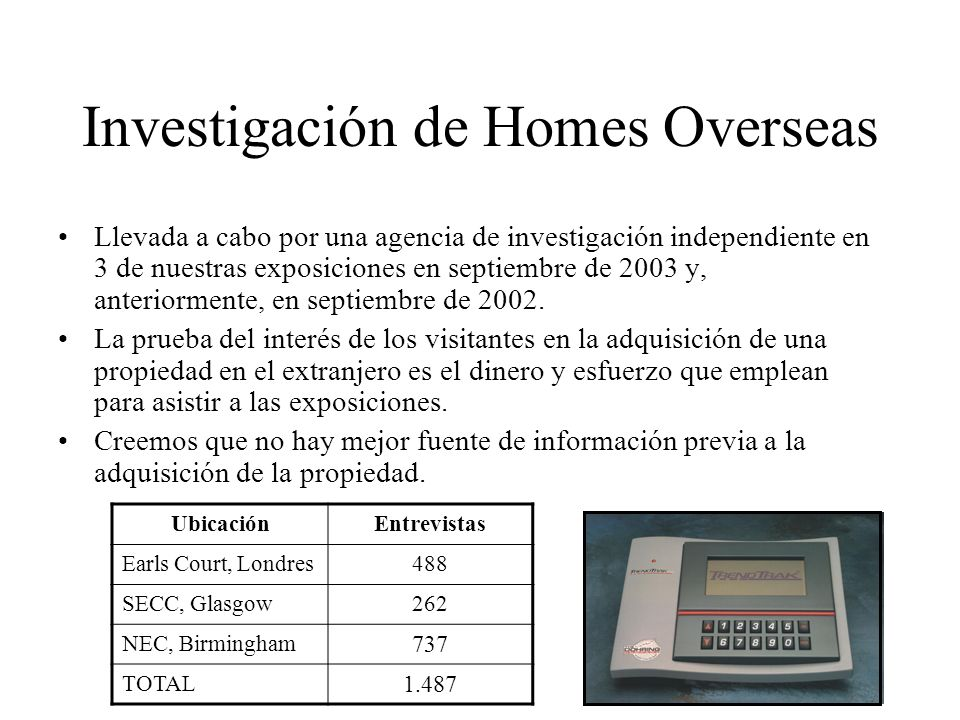 Investigación de Homes Overseas
