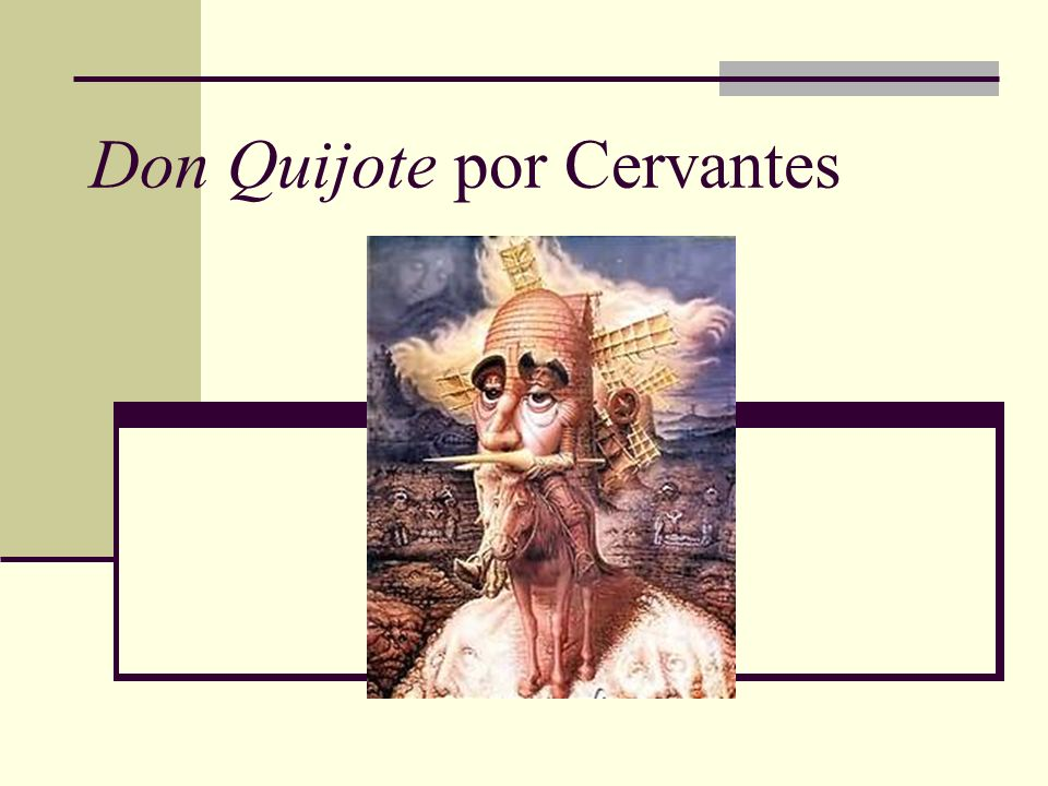 Don Quijote por Cervantes