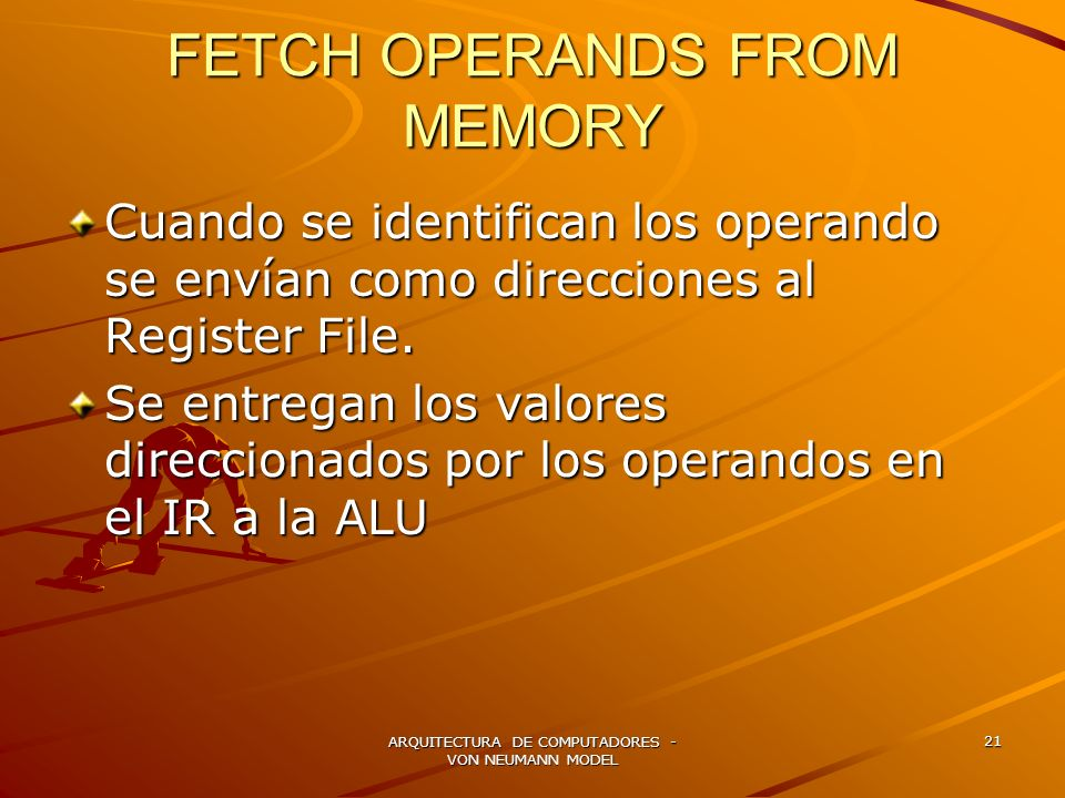 FETCH OPERANDS FROM MEMORY