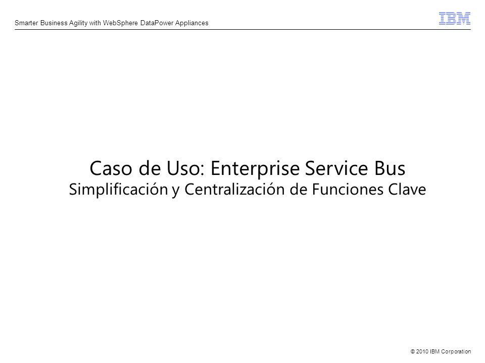 Caso de Uso: Enterprise Service Bus