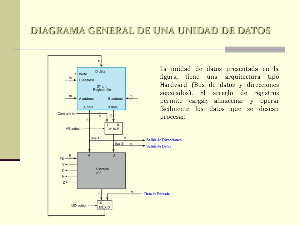 DIAGRAMA GENERAL DE UNA UNIDAD DE DATOS