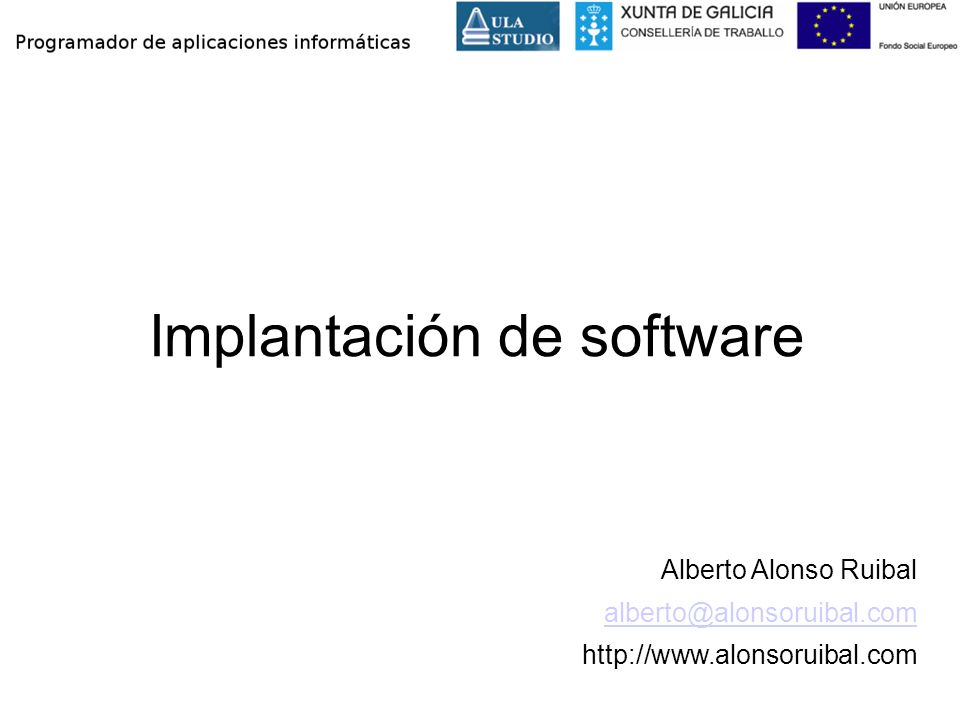 Implantación de software
