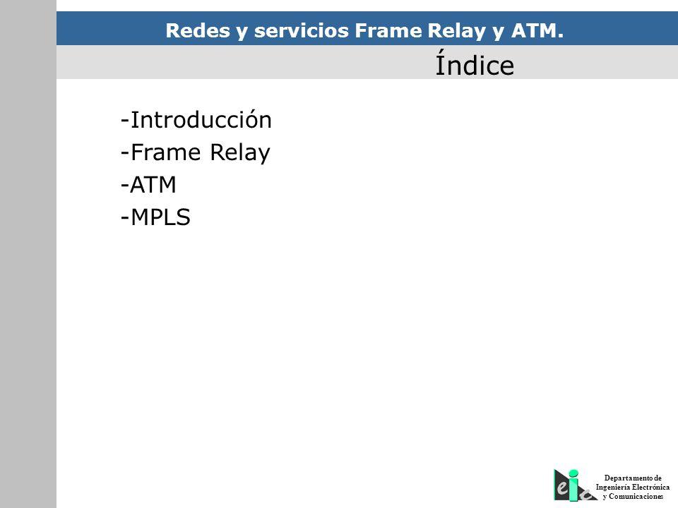 Redes y servicios Frame Relay y ATM. - ppt descargar