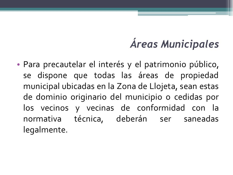 Áreas Municipales