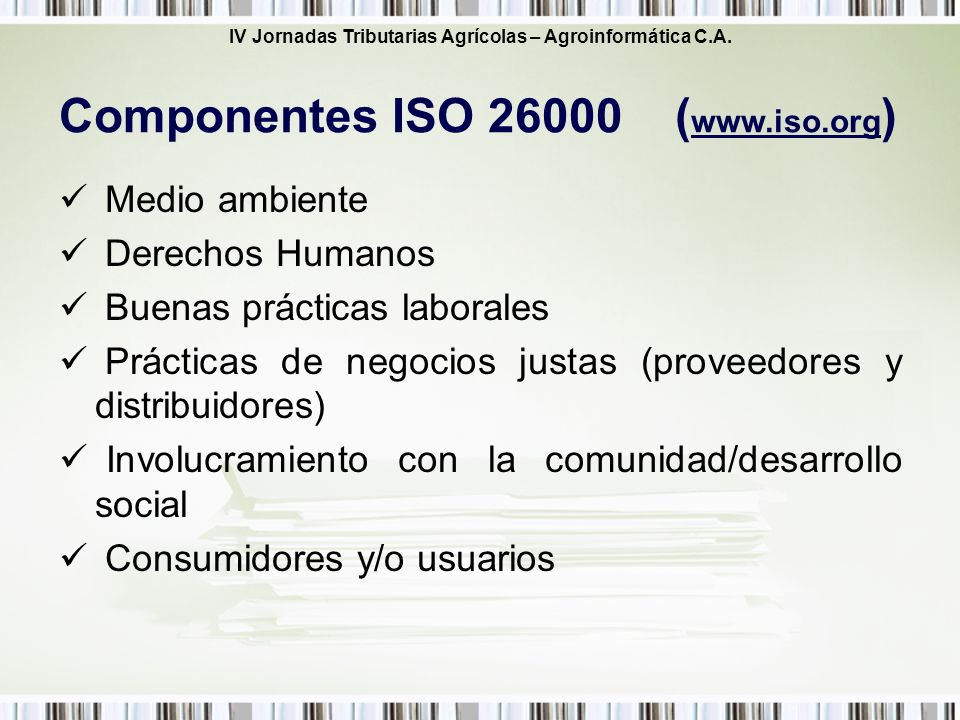 Componentes ISO (