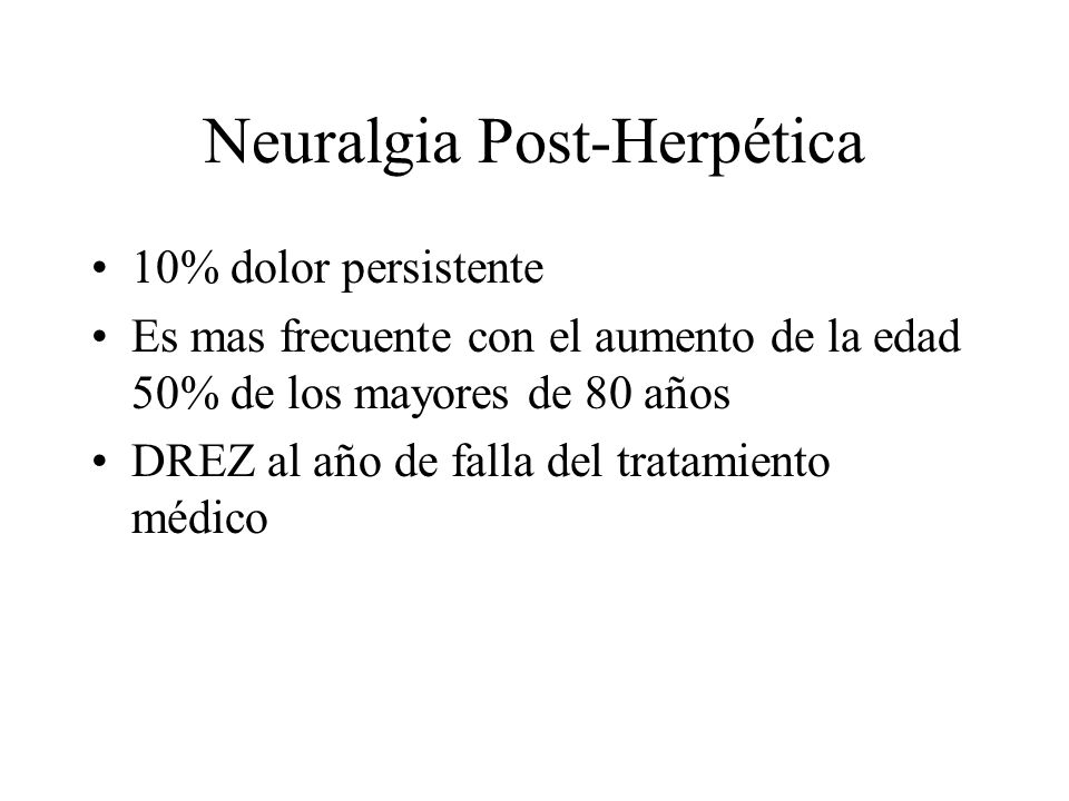 Neuralgia Post-Herpética