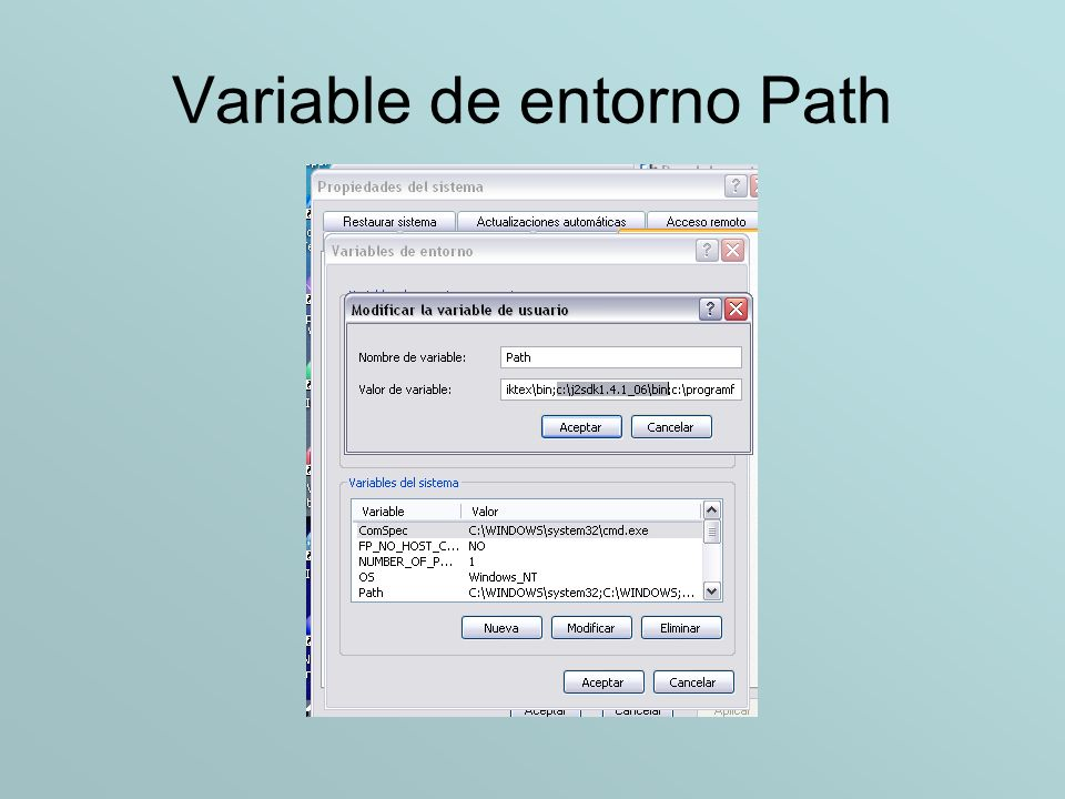 Variable de entorno Path