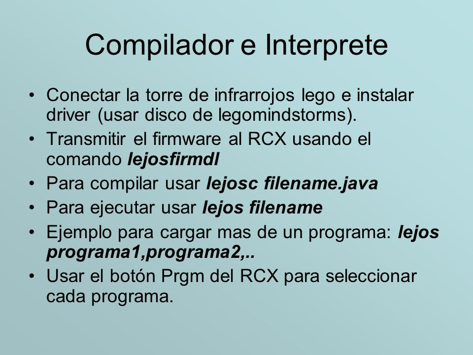 Compilador e Interprete