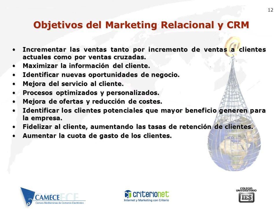 Objetivos del Marketing Relacional y CRM