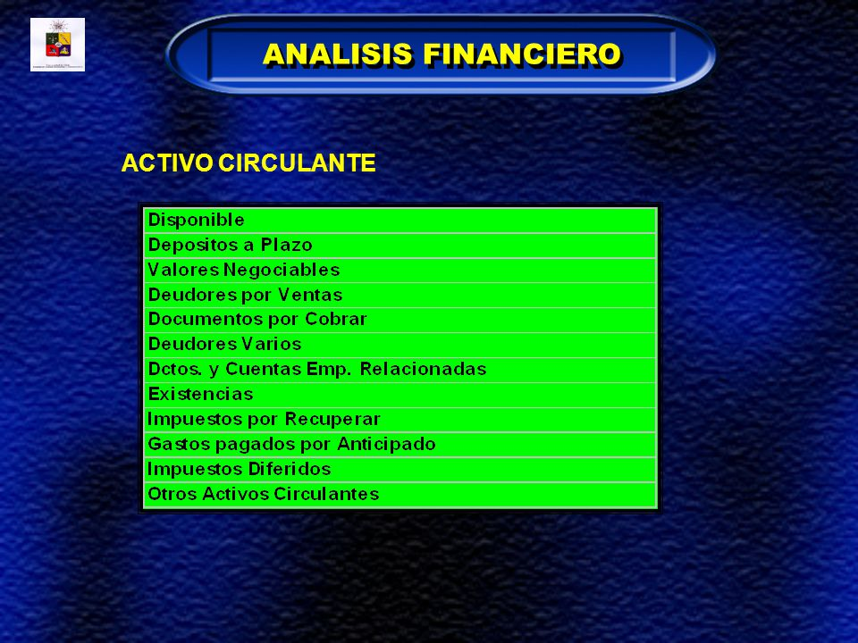 ANALISIS FINANCIERO ACTIVO CIRCULANTE