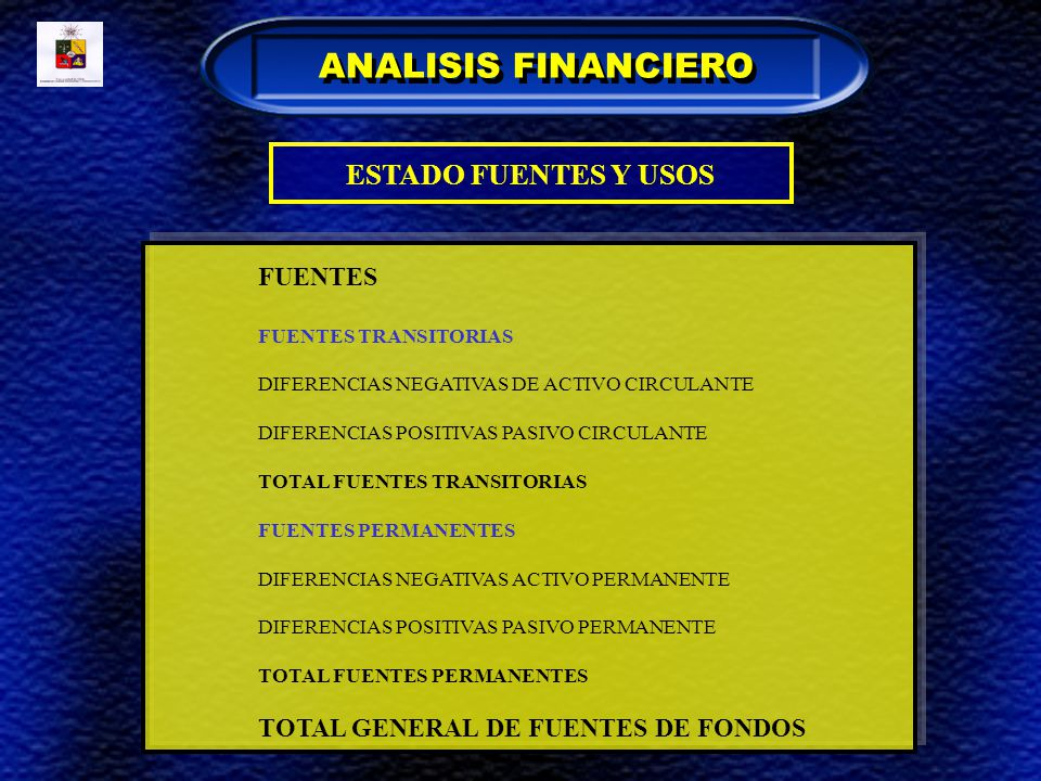 ANALISIS FINANCIERO ESTADO FUENTES Y USOS FUENTES