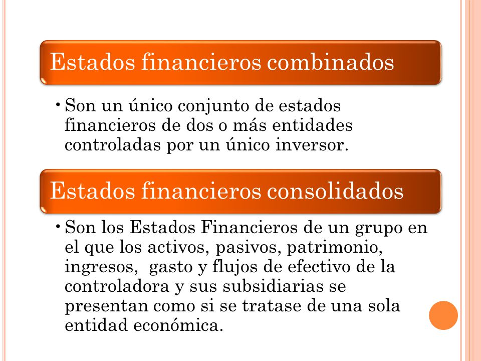 Estados financieros combinados