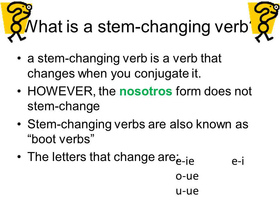 What is a stem-changing verb