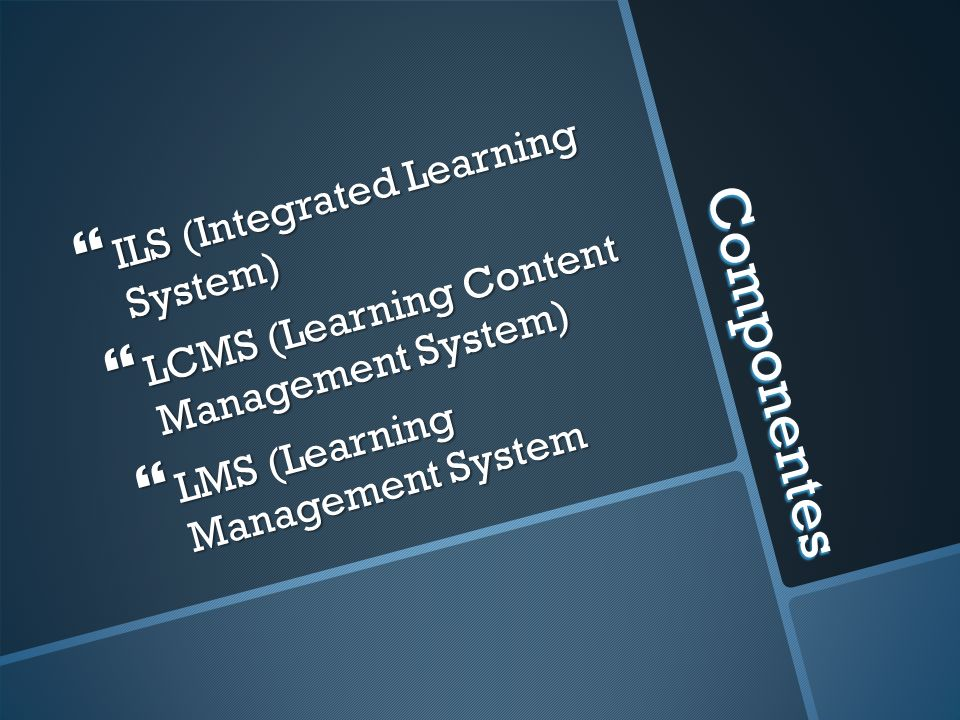 Componentes ILS (Integrated Learning System)