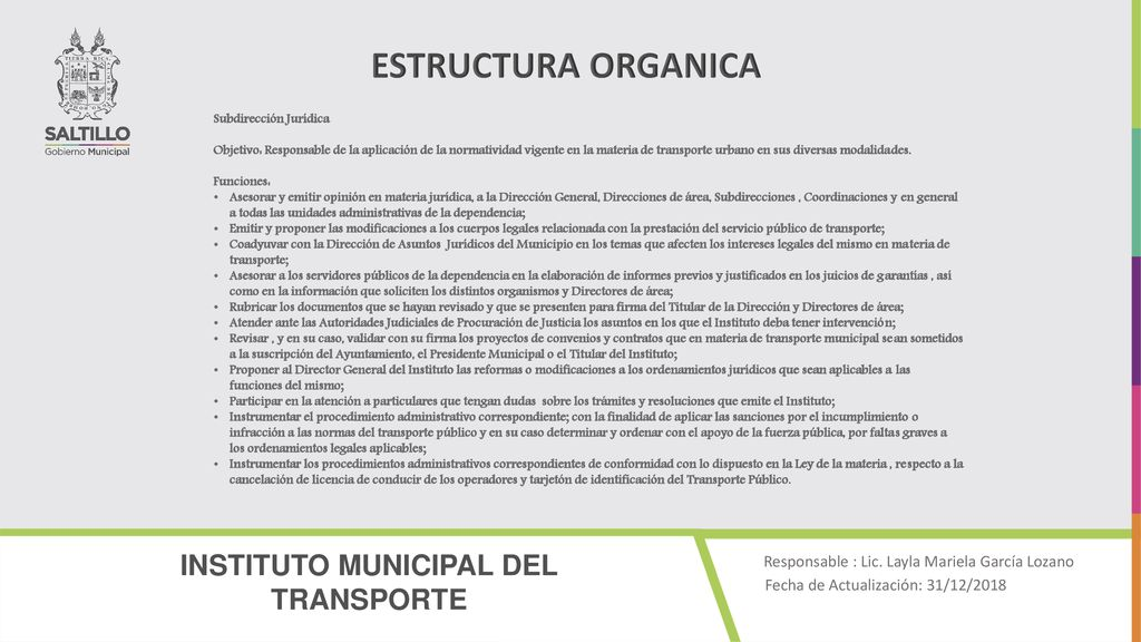 Instituto Municipal Del Transporte Ppt Descargar