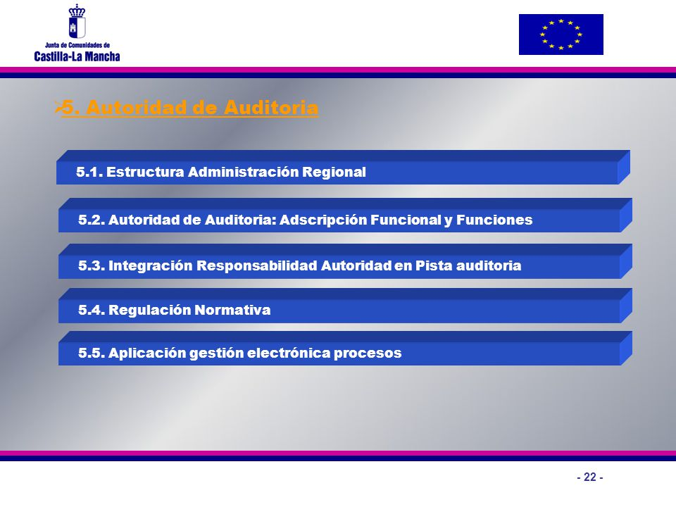 5. Autoridad de Auditoria
