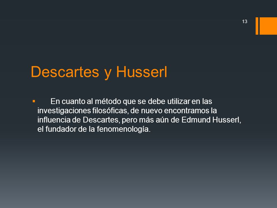 Descartes y Husserl