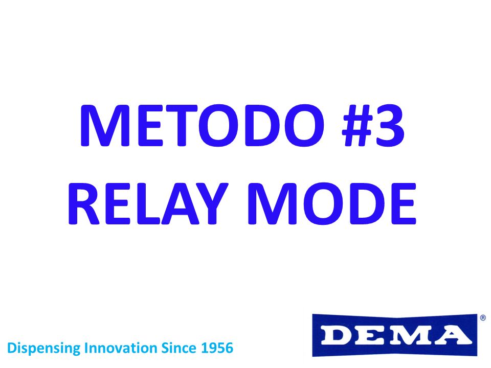 METODO #3 RELAY MODE Dispensing Innovation Since 1956