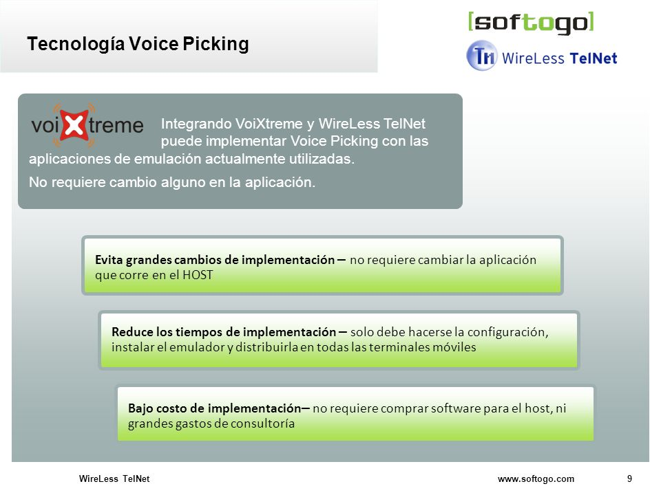 Tecnología Voice Picking