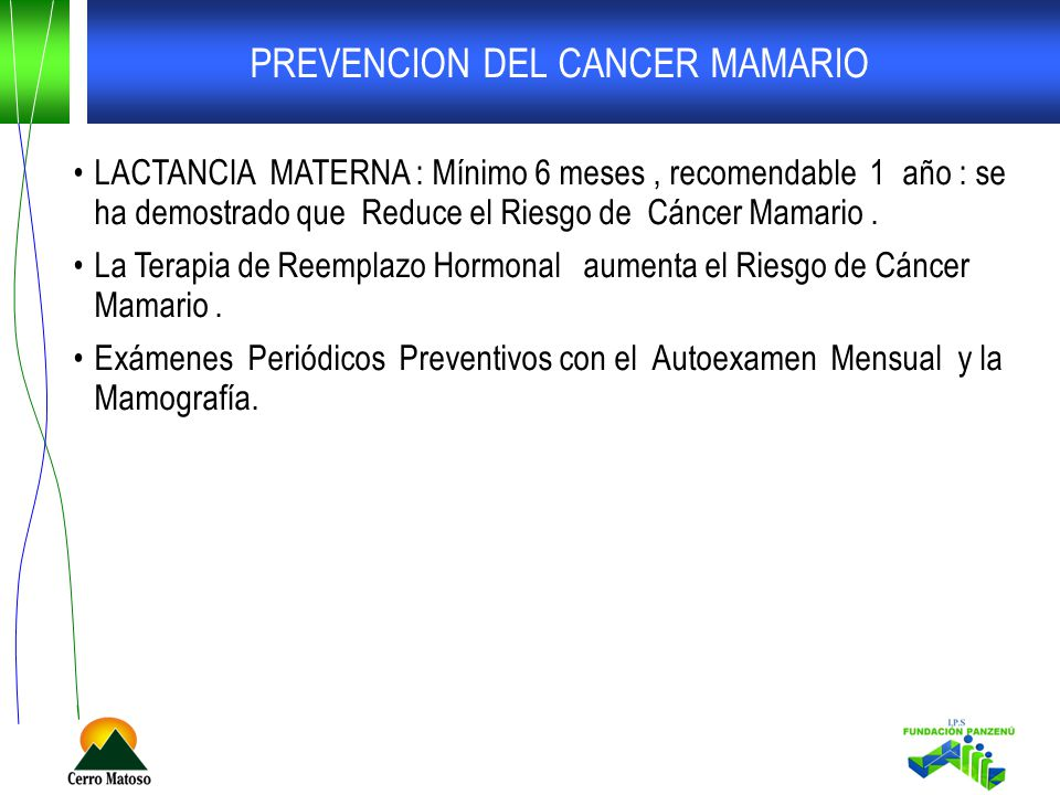PREVENCION DEL CANCER MAMARIO