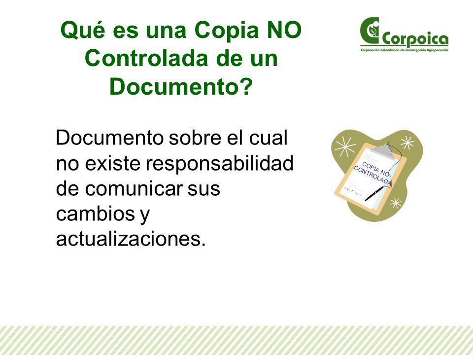 Qué es una Copia NO Controlada de un Documento