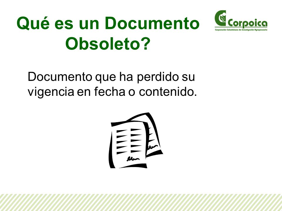 Qué es un Documento Obsoleto