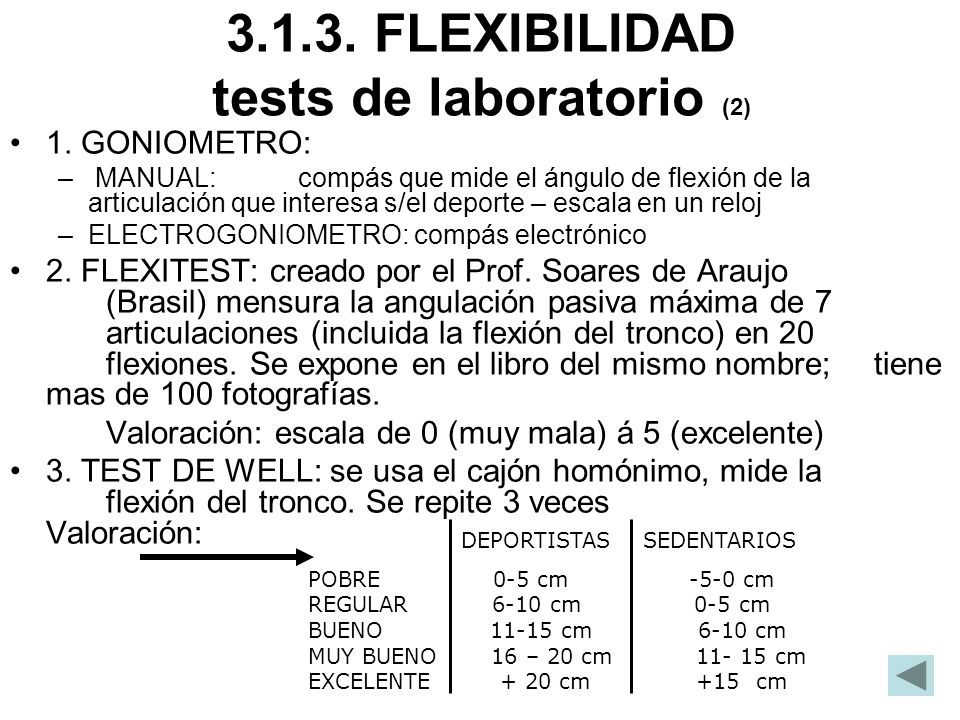 3.1.3. FLEXIBILIDAD tests de laboratorio (2)