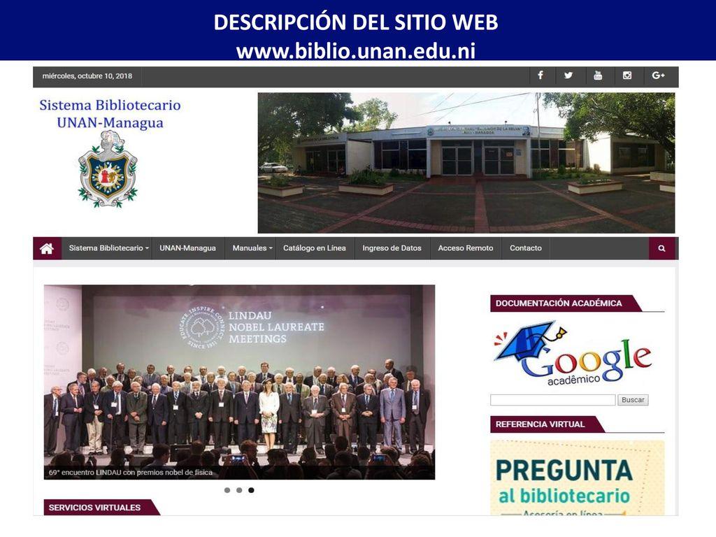 Organización Del Sistema Bibliotecario De La Unan Managua