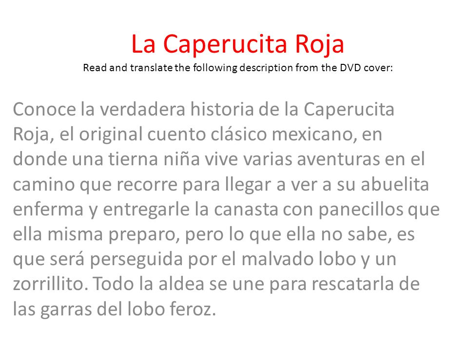 Read And Translate The Following Description From The Dvd Cover