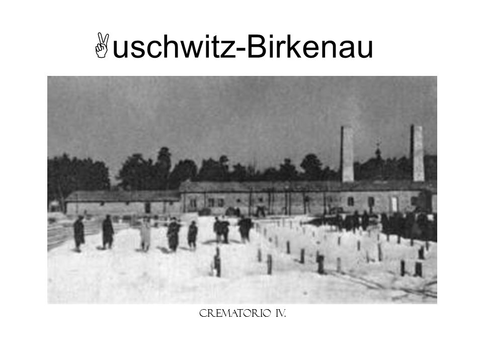 uschwitz-Birkenau Crematorio IV. Instructor Note: