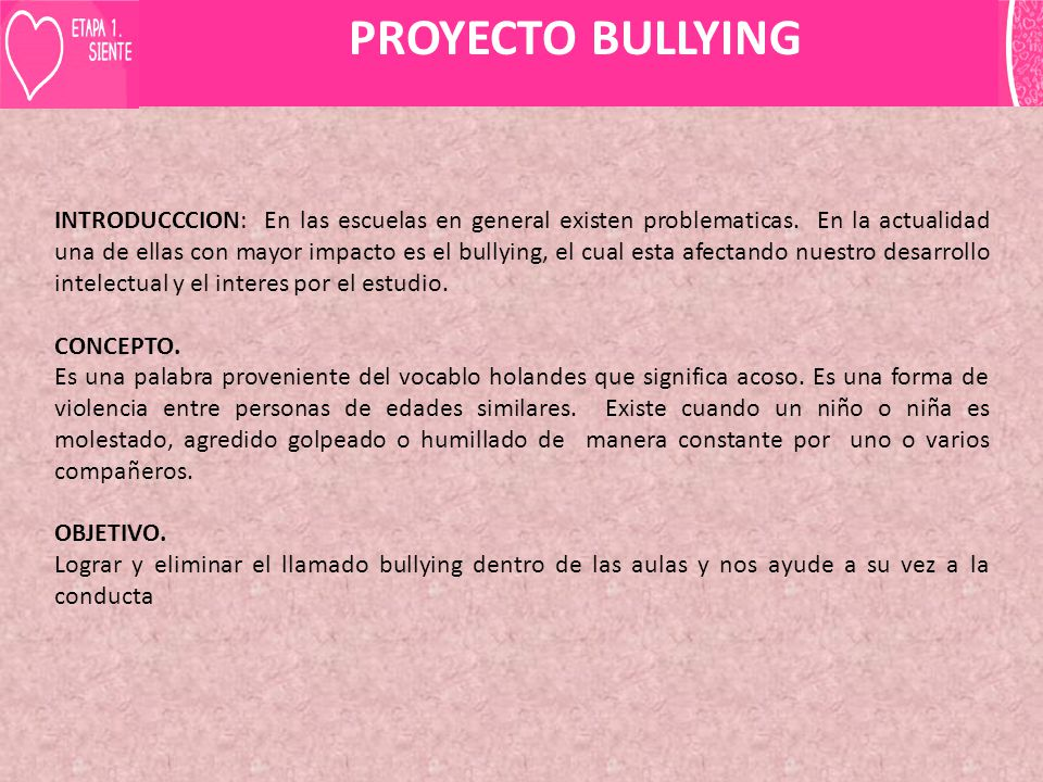 PROYECTO BULLYING