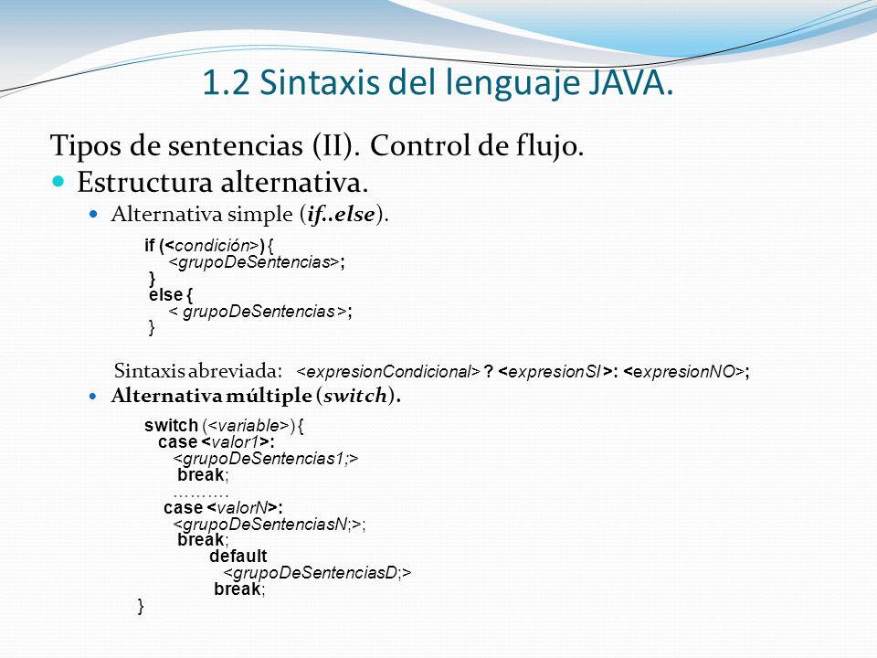 1 2 Sintaxis Del Lenguaje Java Ppt Descargar
