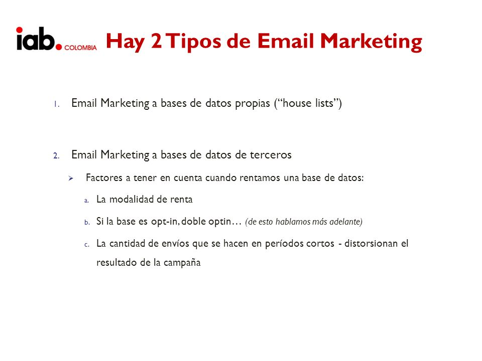 Hay 2 Tipos de Email Marketing