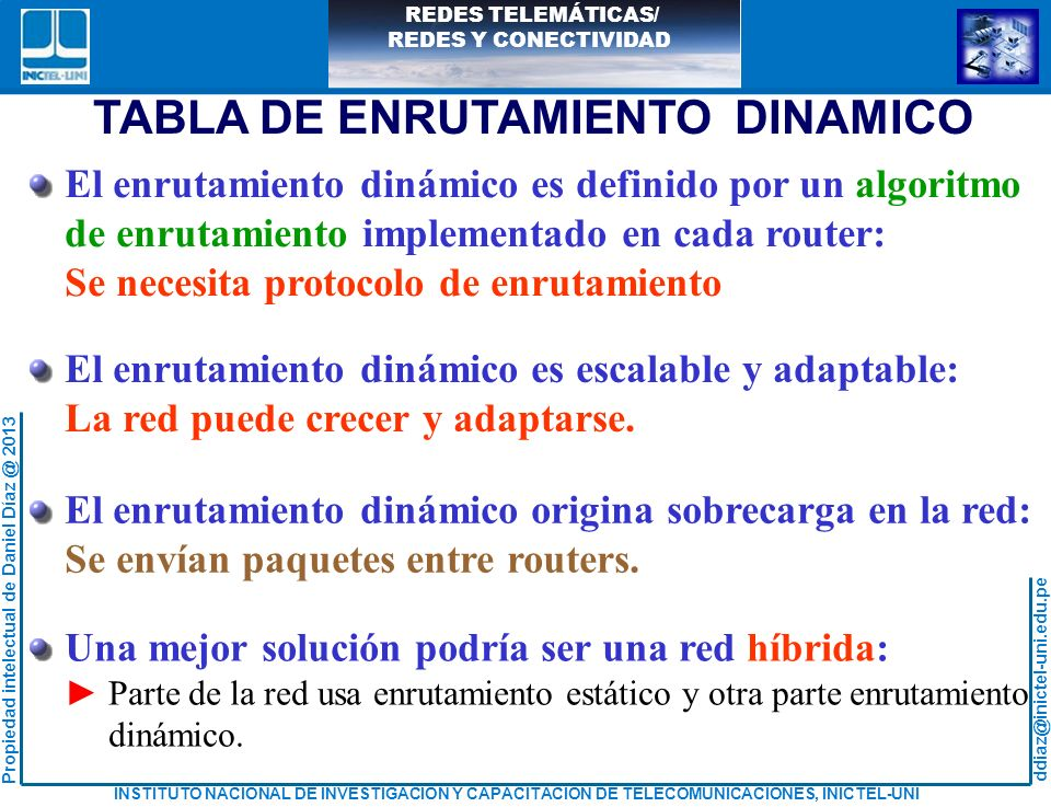 TABLA DE ENRUTAMIENTO DINAMICO
