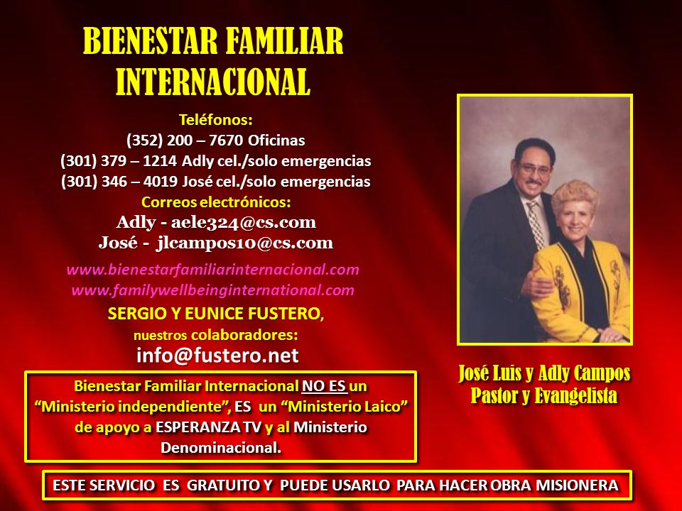 BIENESTAR FAMILIAR INTERNACIONAL