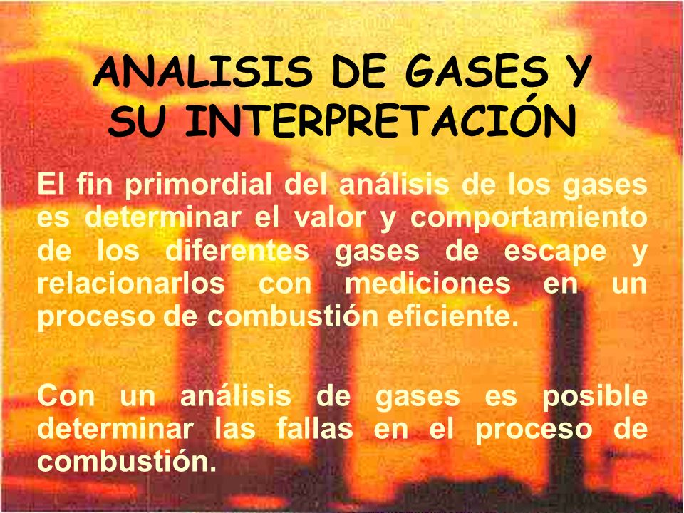 ANALISIS DE GASES Y SU INTERPRETACIÓN