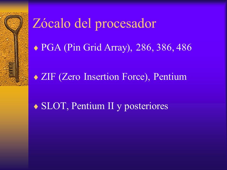 Zócalo del procesador PGA (Pin Grid Array), 286, 386, 486