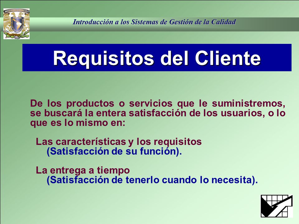 Requisitos del Cliente