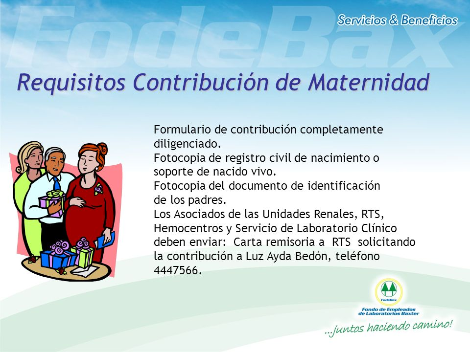 Requisitos Contribución de Maternidad